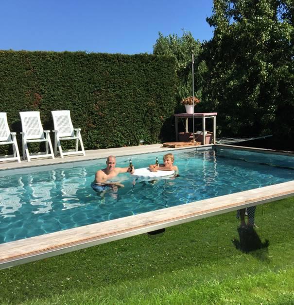 Inox zwembad de mooiste en beste technische oplossing - Muur zwembad ...