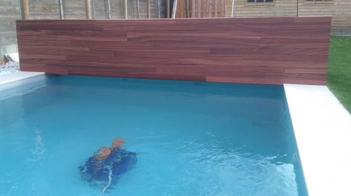 Terras zwembad in ipe of natuursteen of transat